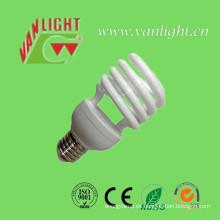 T2 23W espiral medio ahorro luz, lámpara CFL