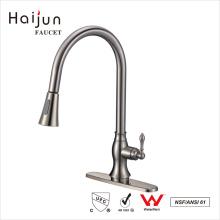 Haijun 2017 duradero cUpc cubierta montada sola manija de latón grifo de agua de la cocina