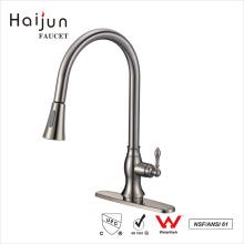 Haijun China Alibaba cUpc Dual Handle Deck Mounted Installation Kitchen Faucet