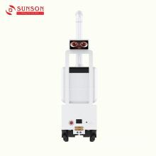 Робот-распылитель с антимикробным туманом