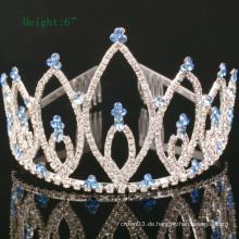 Kundenspezifische einfache Design Crown Rhinestone Tiara Kristall Kronen