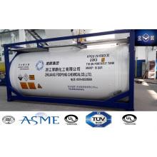 25000 Л высокопрочных углеродных стальных танк-контейнер для воды, нефти, химических веществ