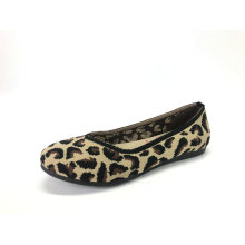 Damen Animal Print Strick Ballerinas Schuhe