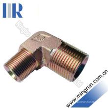 90 encaixe hidráulico masculino do conector do tubo do adaptador de BSPT do cotovelo (1T9-SP)