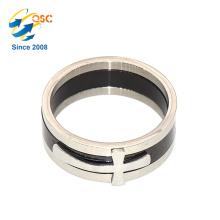 Nouveaux anneaux d'anneau d'acier inoxydable d'anneau de doigt plaqué par or de conception