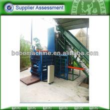 máquina de embalar horizontal manual para papel usado