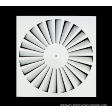 Fixed Blades Square Ceiling Diffuser Iron Sheet Swirl Diffuser