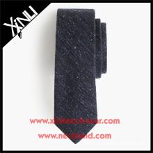 Lazos ingleses del tweed de la lana de seda en color sólido corbata de lujo de la lana