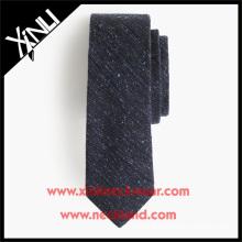 Gravatas de lã de lã de lã inglesa na gravata de lã fantasia cor sólida