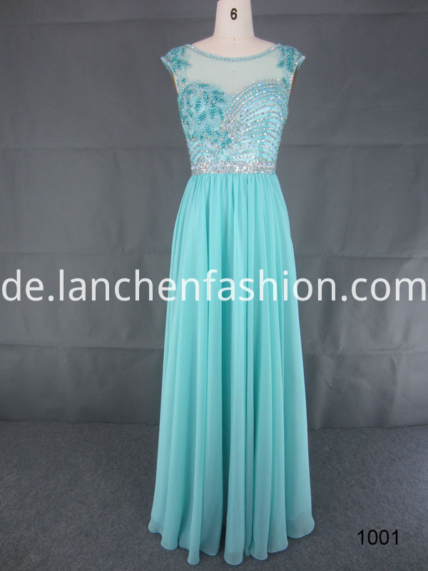 Floral Lace Prom Dress