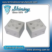 TC-652-A Resistente al calor 65A Bloque de terminales de video porcelana de 2 polos