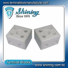 TC-652-A résistant à la chaleur 65A Bloc de bornes vidéo à 2 pôles en porcelaine