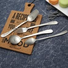 Stainless  children cutlery set with Cartoon Pattern