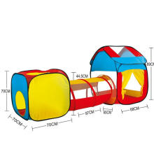 Tunnel Three Pieces Baby Crawling 1-2-3 Years Old Childen Tent