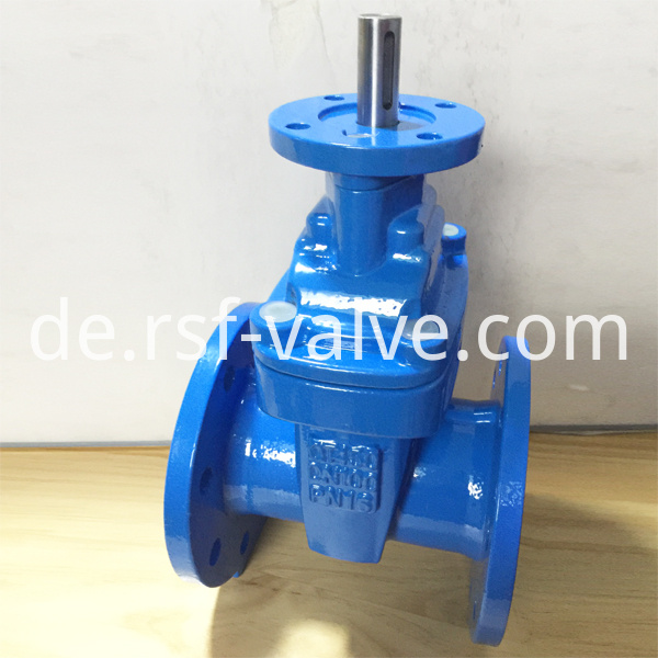 Resilient Gate Valve With Iso5210 Connecting Flange For Actuator