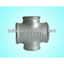 Stainless steel high pressure threaded cross