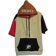 Customized Fashion Street Leisure Style Shirts Hoodie with Short Sleeves (H0002/03/04/05/06)