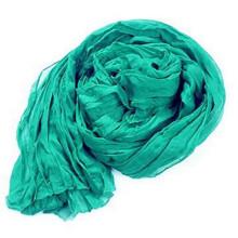 180 * 90 cm große feste Baumwolle Leinen Voile Falten Schal Schal Wrap für Frauen