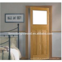 Porta de madeira moderna nova do folheado do abanador do projeto em América