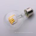 A19 A60 E27 clear soft Filament LED Bulb 6000K 8w