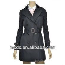 long new style black women trench coat