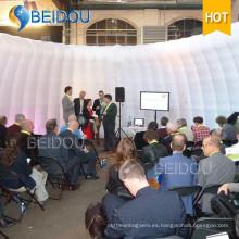 OEM LED inflables Evento de boda gigante carpas Inflables concierto domo Camping Shell partido tienda
