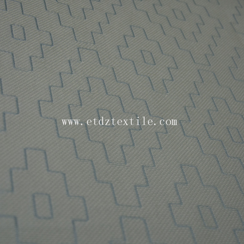 New Polyester Embroidery Curtain Fabric GF026 Water Blue Color