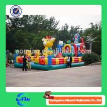 Cidade inflável comercial inflável, grandes jogos infláveis, brinquedos infláveis para crianças jogo