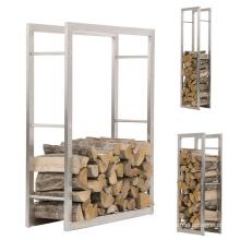 Abnehmbares Metall-Brennholz-Lagerregal für den Innen- und Außenbereich