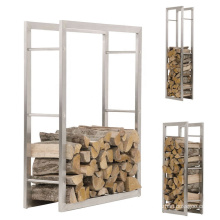 Detachable Indoor Outdoor Metal Firewood Storage Rack