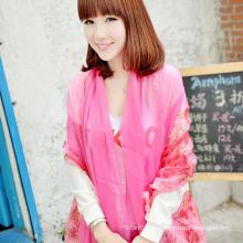 Elegante e elegante lenço de mulher xale Outono Rosa