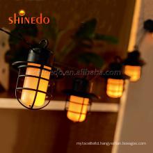 Outdoor 10 Lantern Bulb Firefly String Solar Light For Garden