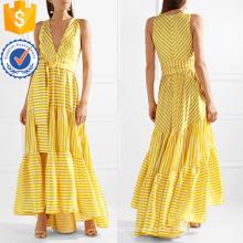 Impreso vestido sin mangas con cuello en V maxi sin mangas del verano del vestido de la fabricación al por mayor de la manera Ropa de las mujeres de la moda (TA0281D)