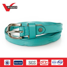 2014 Fancy skinny handmade ladies leather belts