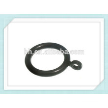 50 Black Plastic Curtain Rings 38mm To Fit 35mm Pole