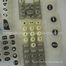 De caucho de silicona recubierto de epoxi teclado para la electrónica