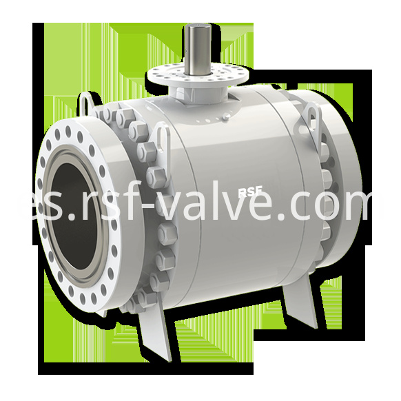 Api 6d Trunnion Mounted Ball Valve 3pcs Body