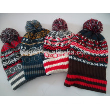 Men Women Fall/Winter Knitted Mixed Color thick hats