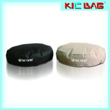 Nueva comodidad de diseño de mascotas amortiguador de bolsa de frijol forma redonda mascota cama