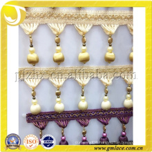 Fabric Beaded Fringe Trims for Curtain