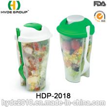 BPA livra a salada para ir copo do serviço com forquilha (HDP-2018)
