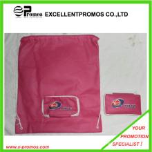 Promocionais personalizado logotipo dobrável sacos de compras Drawstring (EP-B7141)