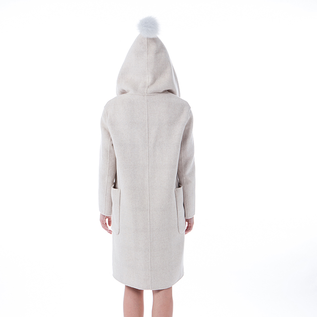 New Beige cashmere winter coat