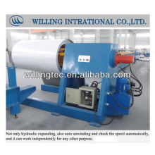 Construction machinery uncoiler straightener and feeder