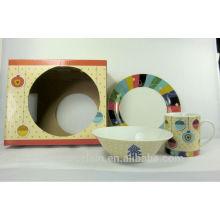 X'MAS 3pcs cena de desayuno de porcelana para BS140515B