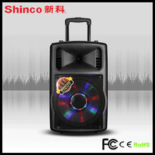 Populäres 12 15 Zoll Plastik tragbarer DJ-Lautsprecher mit Batterie