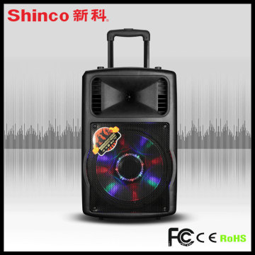 Popular 12 15 Inches Plastic Portable DJ Speaker with Battery