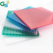 Manufacturer Supplier Brown Clear Color Triple Layer Plastic Pc Hollow Sheet Polycarbonate Sheet