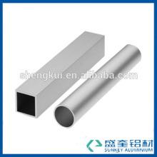 Extrusion aluminium tube with anodize silvery for China aluminum profile