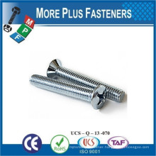 Made in Taiwan Stainless Steel Phillips Oval Countersunk Screws DIN 966